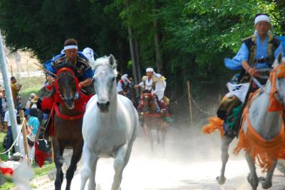 2014 相馬野馬追祭り最終日、小高神社の「野馬懸」