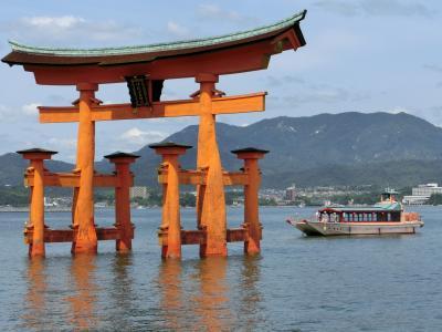 広島たび 2日目・海に浮かぶ宮島と弥山