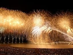 縁あって柏崎の花火大会、尺玉300発には感動の涙でした。