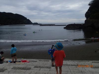 初めての西伊豆2014夏<松崎海水浴場・三津シーパラダイス・まつざき荘>