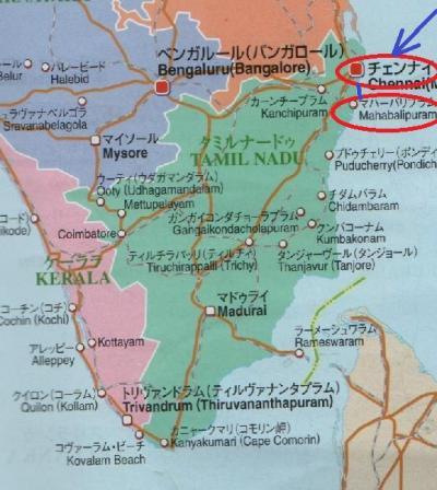 東南アジア&南インドフラフラ旅日記2014(28)チェンナイ→マハーバリプラム