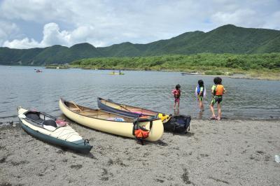 本栖湖カヌー、カヤック遊び