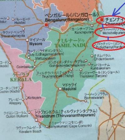 東南アジア&南インドフラフラ旅日記2014(29)マハーバリプラム→プドゥチェリー