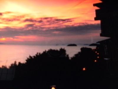 日本の夕日百景に泊まる鷲羽温泉