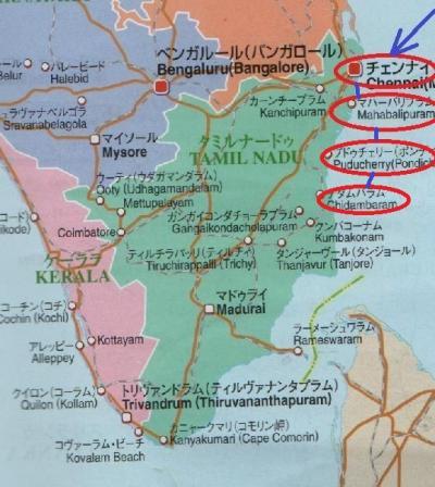 東南アジア&南インドフラフラ旅日記2014(30)プドゥチェリー→チダムバラム