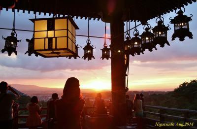 【奈良県(奈良)】 ひと夏の想い出!古都・奈良 「東大寺二月堂」にて、夕陽に感動~♪\(^o^)/