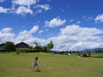 夏休み初日は青空の安曇野、再訪の旅館「なごみ野」でほっこり♪