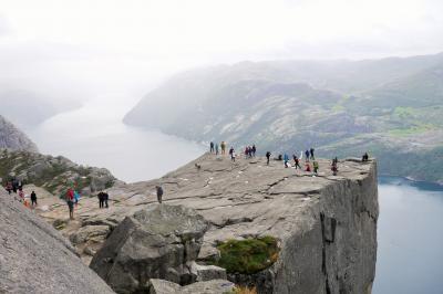 600mの自然の展望台から絶景のリーセフィヨルド!!