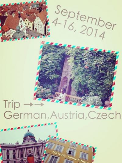 ドイツ、オーストリア、チェコ 母娘二人旅行①