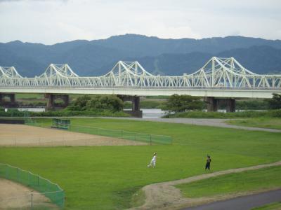 初秋の長岡の信濃川