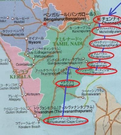 東南アジア&南インドフラフラ旅日記2014(34)マドゥライ→カニャークマリ(コモリン岬)