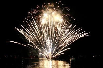 夏の終わりは花火と自衛艦を見に広島へ(その1、たけはら夏まつり花火大会)