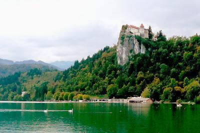 JALチャーター直行便で行くクロアチア・スロベニア・モンテネグロ7泊9日:1日目ブレッド湖でクリームケーキ