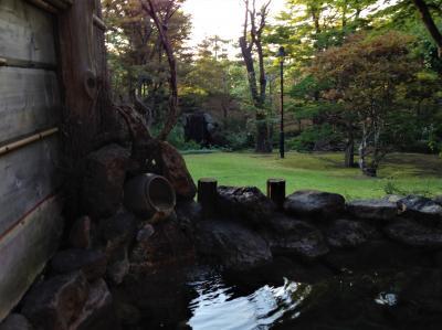 サン・プリンセス北海道周遊クルーズ親子旅①前泊に小樽の朝里川温泉♪お部屋の露天風呂でまったりと~いい気分♪