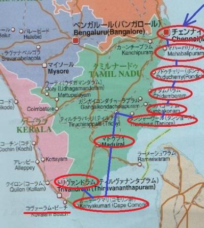 東南アジア&南インドフラフラ旅日記2014(36)カニャークマリ→トリバンドラム
