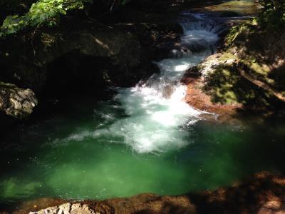 伏伸の滝、岩見温泉へ
