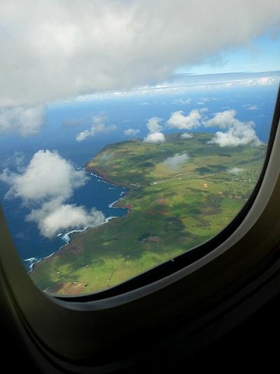 ★南米、時には空路で(46)サンチャゴからイースター島への機内でもトラブルが