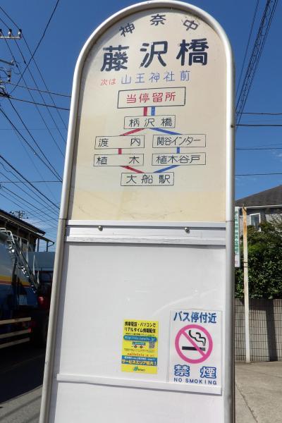 山王神社前から東海道(藤沢市大鋸3)