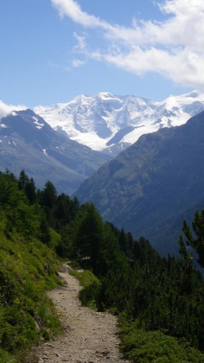 2014年スイス旅行(21)~再リベンジにて、何とか果たせたかな~Panoramaweg @ Pontresina