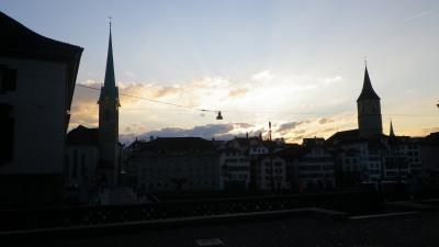 2014年スイス旅行(34)~最後、Zürichの夜にちょっと散歩
