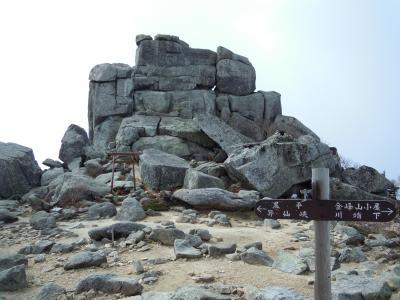 五丈岩が見たくて、金峰山に登ってきました!