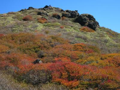 もえるような紅葉を期待して 久住の山へ