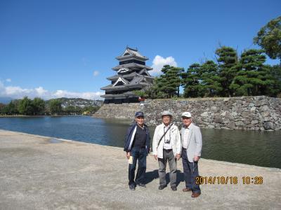 パソ友3名で  松本城見学