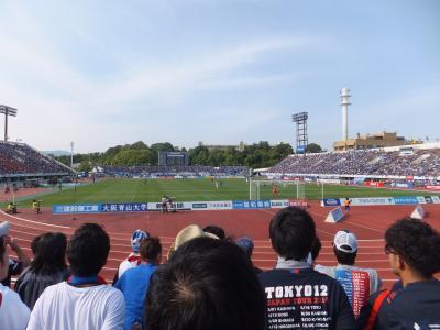 2014 LCCで行く大阪遠征と明石海峡ウォーク【その2】赤いラピートで万博へサッカー観戦