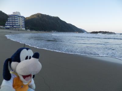 グーちゃん、庄内へ行く!(湯野浜温泉/朝のお散歩で太陽エネルギーを!編)