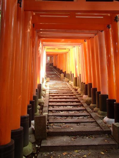そうだ、京都へ行っちゃおう!久しぶりの京都一人旅、お次は伏見稲荷大社へ。