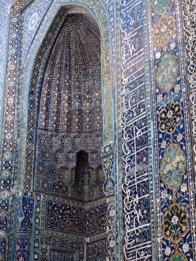 シルクロードの青い宝石 ウズベキスタンで 出会い旅 (8)サマルカンド シャーヒズィンダ廟群は、青の競演