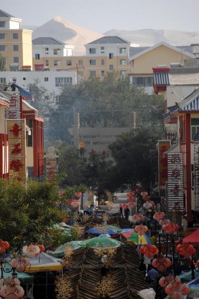 2013年中国新疆放浪記048・敦煌散策…その02・雨上がりの敦煌市を散歩して♪