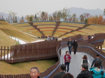 順天(スンチョン)の庭園博覧会場、葦原、楽安邑城、