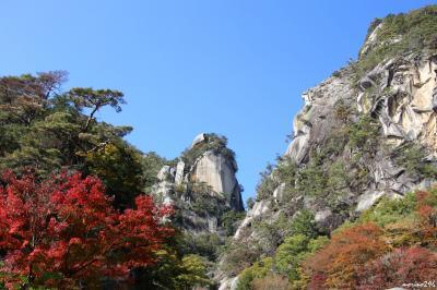 紅葉を楽しみに昇仙峡まで