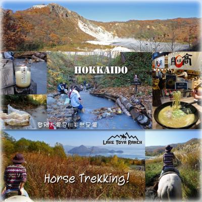 紅葉北海道。小樽・ニセコ・洞爺湖・登別の旅4 -洞爺湖 レークトーヤランチで乗馬体験、登別の天然足湯でランチタイム、〆は開高のしろみそらーめん-
