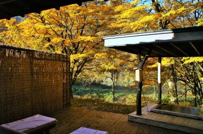 秋色の秋田!紅葉の名所・抱返り渓谷の渓流沿いの一軒宿「都わすれ」で至福の時を過ごす