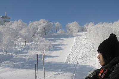 次男と電車で行った野沢温泉スキー場(3