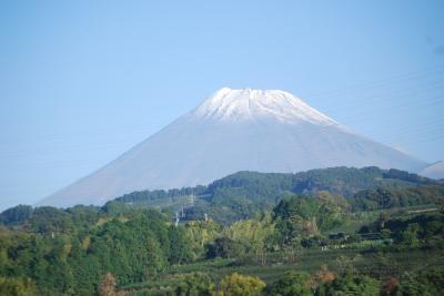 久しぶりに新幹線より富士山を眺める