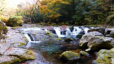 急に思い立って行った、熊本・大分 レンタカーでドライブ&観光と紅葉狩り1泊2日の旅【まだ紅葉少し早かった《菊池渓谷》散策編】(2014年11月)