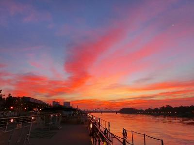 セレナーデ号ドナウ川クルーズ・ブラチスラバの朝景