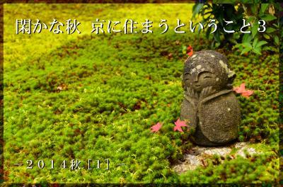 閑かな秋 京に住まうということ・・・2014秋[3]