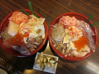 日立おさかなセンターの海鮮丼(味勝手丼)を食べに茨木県までドライブしました。