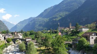 2014年7月スイス-7 アイロロ→ジョルニコ サイクリングと地元のおばあさんとのふれあい