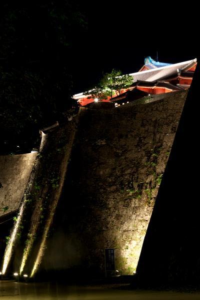 ボクの沖縄・・・自由気ままな一人旅(2/5) ライトアップされた首里城がメチャきれい!