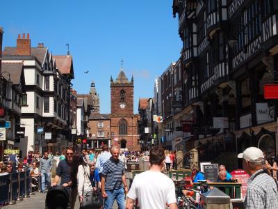 ローマ時代のより続くチェスターの街並み