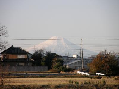 晩秋のウォーキングコースから見られた風景・・・①関東平野外周の山々を楽しむ