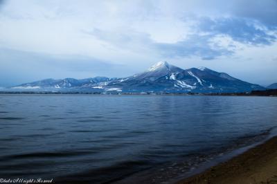 初冬の磐梯山&猪苗代湖