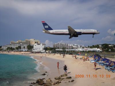 飛行機を間近で見るため、セント・マーチン島へ