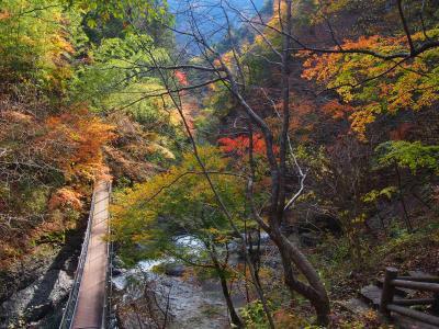 十谷温泉源氏の湯と秋の大柳川渓谷散歩