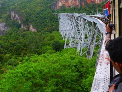インドシナ周遊3■激揺れ列車三連発でバゴー経由ゴッティ鉄橋へ